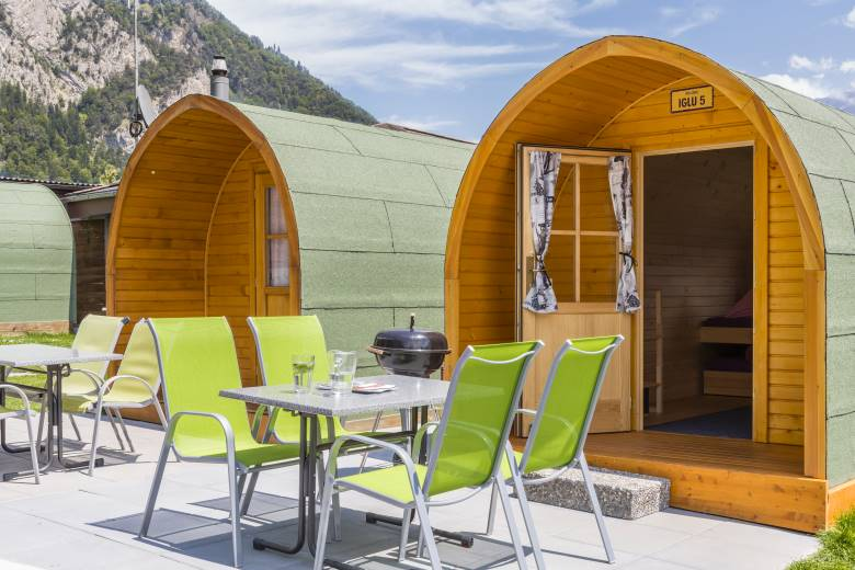 wooden family igloos for up to 4 people for rent